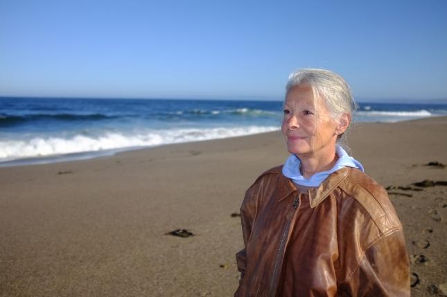 Cheryl at ocean